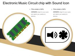Electronic Music Circuit Chip With Sound Icon