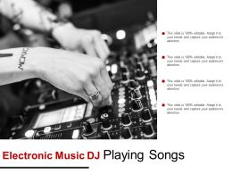 Electronic Music Dj Playing Songs