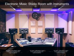 Electronic Music Studio Room With Instruments