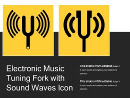 Electronic Music Tuning Fork With Sound Waves Icon