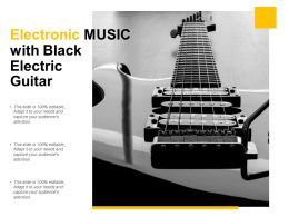 Electronic Music With Black Electric Guitar