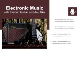 Electronic Music With Electric Guitar And Amplifier
