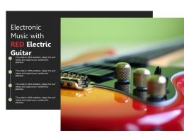 Electronic Music With Red Electric Guitar