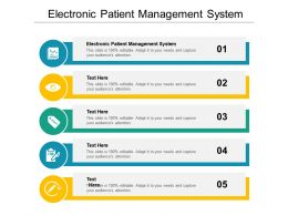 Electronic Patient Management System Ppt Powerpoint Presentation Pictures Background Designs Cpb