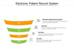 Electronic Patient Record System Ppt Powerpoint Presentation File Slides Cpb