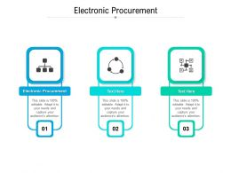 Electronic Procurement Ppt Powerpoint Presentation Show Picture Cpb