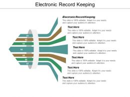Electronic Record Keeping Ppt Powerpoint Presentation Pictures Slides Cpb