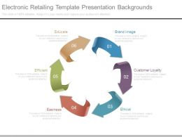 Electronic Retailing Template Presentation Backgrounds