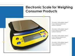 Electronic Scale For Weighing Consumer Products