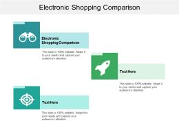 Electronic Shopping Comparison Ppt Powerpoint Presentation File Images Cpb