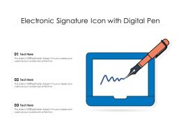 Electronic Signature Icon With Digital Pen