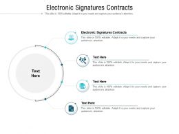 Electronic Signatures Contracts Ppt Powerpoint Presentation Summary Deck Cpb
