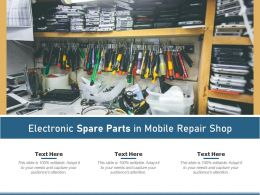 Electronic Spare Parts In Mobile Repair Shop