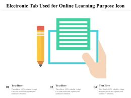 Electronic Tab Used For Online Learning Purpose Icon