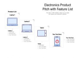 Electronics Product Pitch With Feature List