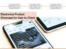 Electronics Product Showcase For User To Check