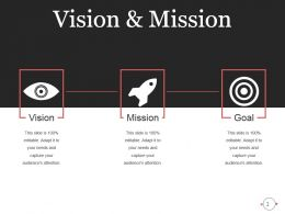 Elegant Vision Mission And Goals Slide With Icons Ppt Slides