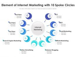 Element Of Internet Marketing With 10 Spoke Circles