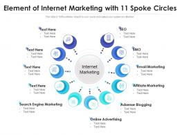 Element Of Internet Marketing With 11 Spoke Circles