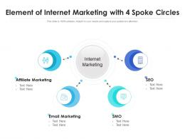 Element Of Internet Marketing With 4 Spoke Circles