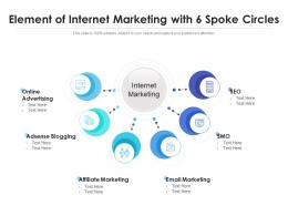 Element Of Internet Marketing With 6 Spoke Circles