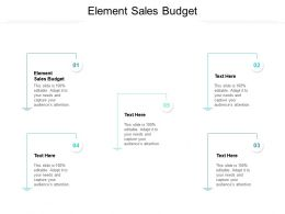 Element Sales Budget Ppt Powerpoint Presentation Ideas Background Cpb