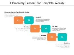 Elementary Lesson Plan Template Weekly Ppt Powerpoint Presentation Ideas Demonstration Cpb