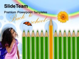 Elementary School Powerpoint Templates Pencils Education Future Image Ppt Designs