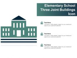 Elementary School Three Joint Buildings Icon