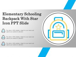 Elementary Schooling Backpack With Star Icon Ppt Slide