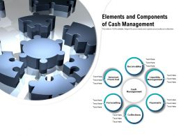 Elements And Components Of Cash Management