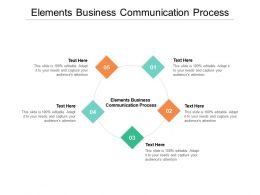 Elements Business Communication Process Ppt Powerpoint Presentation Inspiration Graphics Cpb