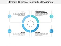 Elements Business Continuity Management Ppt Powerpoint Presentation Professional Brochure Cpb