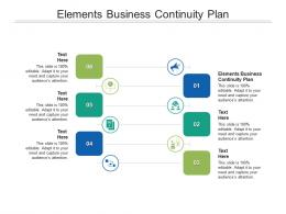 Elements Business Continuity Plan Ppt Powerpoint Presentation Layouts Elements Cpb