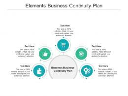 Elements Business Continuity Plan Ppt Powerpoint Presentation Styles Slide Portrait Cpb