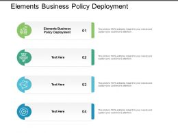 Elements Business Policy Deployment Ppt Powerpoint Presentation Styles Images Cpb