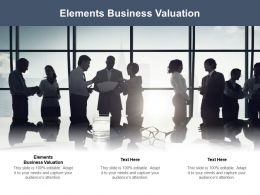 Elements Business Valuation Ppt Powerpoint Presentation File Graphics Download Cpb