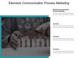 Elements Communication Process Marketing Ppt Powerpoint Presentation Infographics Graphics Cpb