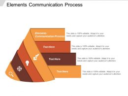Elements Communication Process Ppt Powerpoint Presentation Gallery Example File Cpb