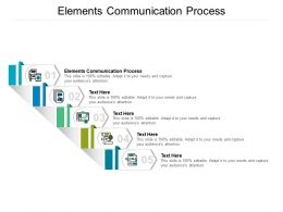 Elements Communication Process Ppt Powerpoint Presentation Outline Files Cpb