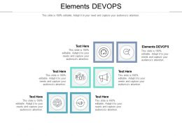 Elements Devops Ppt Powerpoint Presentation Gallery Designs Cpb