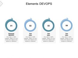 Elements DEVOPS Ppt Powerpoint Presentation Inspiration Shapes Cpb
