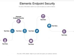 Elements Endpoint Security Ppt Powerpoint Presentation Layouts Layout Ideas Cpb