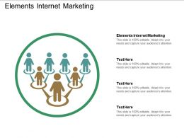 Elements Internet Marketing Ppt Powerpoint Presentation Gallery Clipart Images Cpb