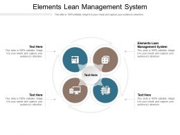 Elements Lean Management System Ppt Powerpoint Presentation Demonstration Cpb