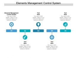 Elements Management Control System Ppt Powerpoint Presentation Summary Layout Ideas Cpb