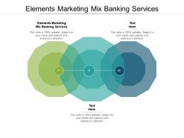 Elements Marketing Mix Banking Services Ppt Powerpoint Presentation Layouts Show Cpb
