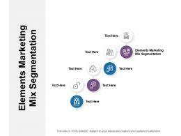Elements Marketing Mix Segmentation Ppt Powerpoint Presentation Icon Model Cpb