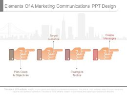 Elements Of A Marketing Communications Ppt Design