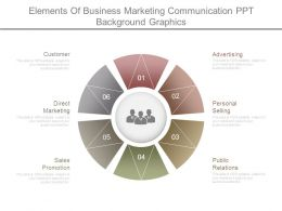 Elements Of Business Marketing Communication Ppt Background Graphics